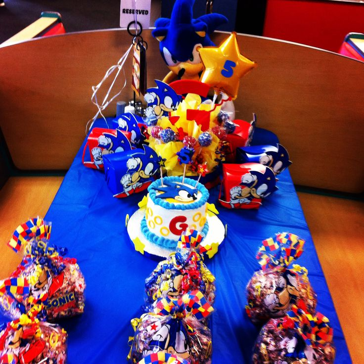 Sonic the hedgehog party Sonic birthday parties, Sonic