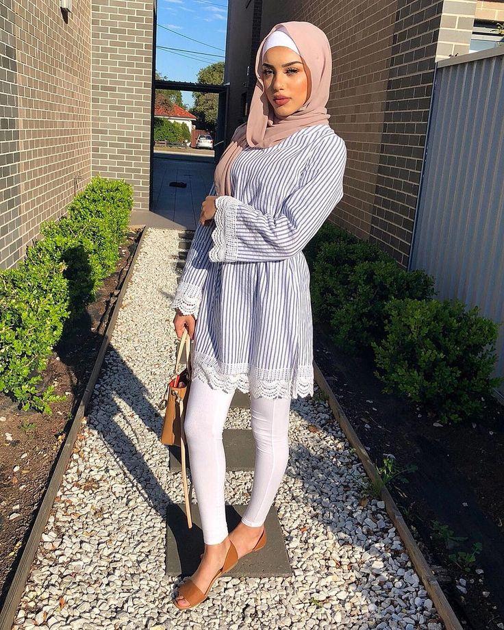 Başörtüsü hijab tesettür giyim kombinleri