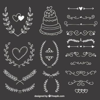 hand-drawn-wedding-ornaments-on-blackboard_23-2147521081.jpg (338×338)                                                                                                                                                                                 Más