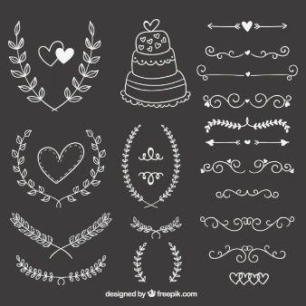 hand-drawn-wedding-ornaments-on-blackboard_23-2147521081.jpg (338×338)                                                                                                                                                                                 Más