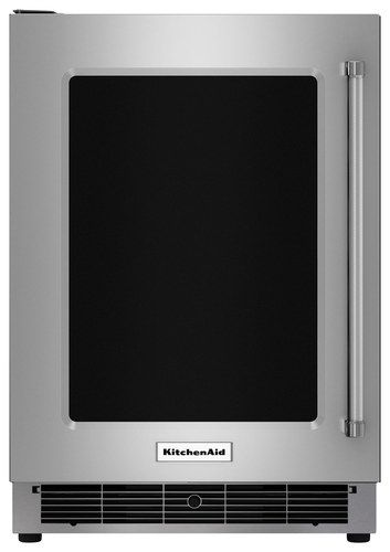 KitchenAid - 5.1 Cu. Ft. mini fridge - Stainless Steel (Silver)