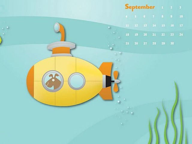 free Cute yellow submarine 640x480 for BB blackberry 9900(bo - Blackberry Wallpapers free download