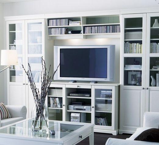 Ikea bookshelf idea for basement