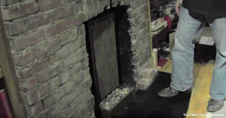 It's Hard To Believe What This Man Discovered Behind His Fireplace…