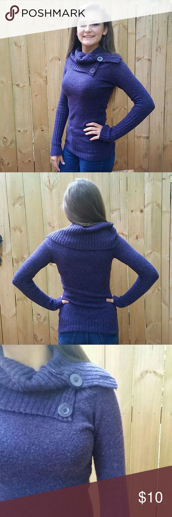 Energie Purple Sweater This sweater is a perfect addition to your winter closet! It's  elegant and cozy. Perfect for a winter dinner date or occasion. The regal purple sets you apart from the normal winter colors.  Slightly used, in good condition. Barely worn. Energie Sweaters Cowl & Turtlenecks
