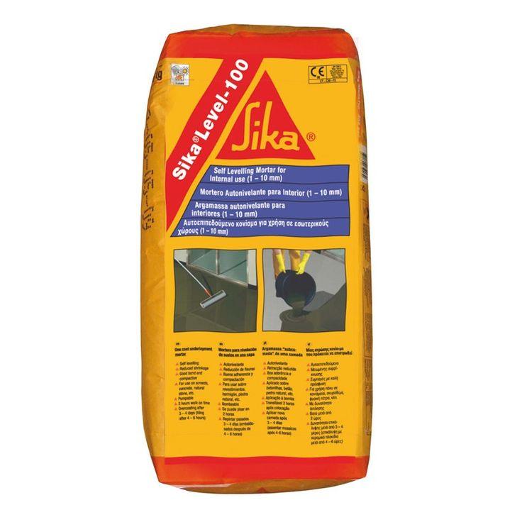 Sika®-Level 100 Nivelador - Sika®-Level 100: es un mortero cementoso modificado con polímeros monocomponente, autonivelante, bombeado de endurecimiento rápido para la regularización y nivelación de pavimentos interiores que vayan a ser cubiertos posteriormente.
