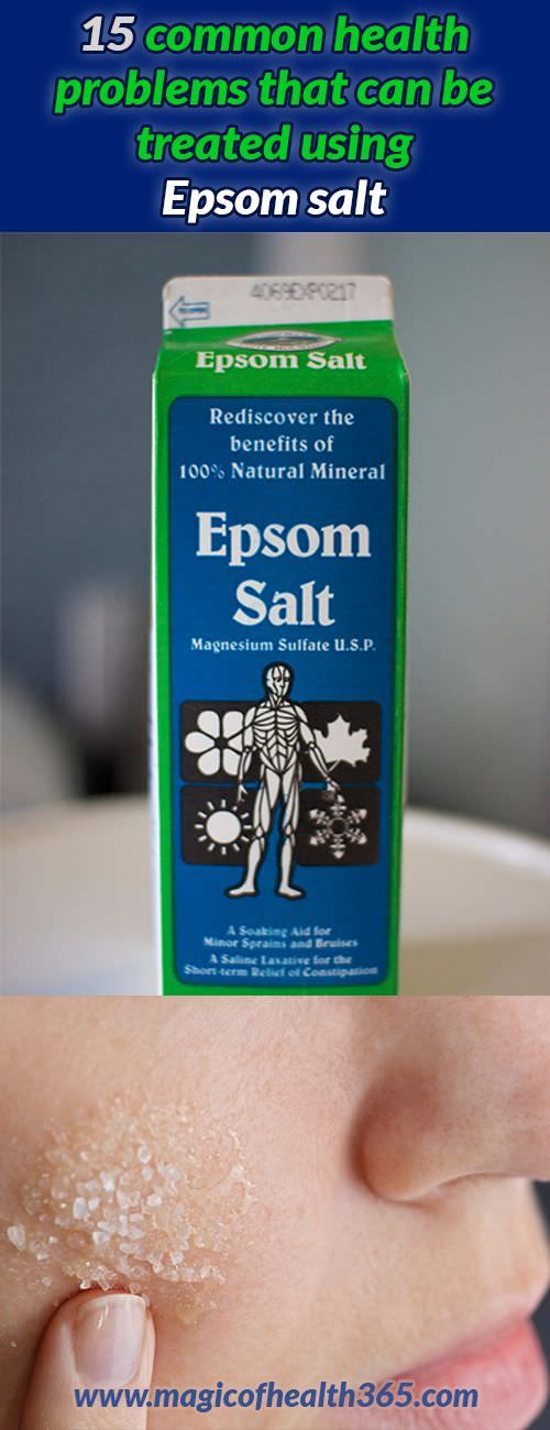 15 Common Health Problems That Can Be Treated Using Epsom Salt