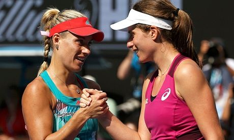 Konta bows out of Australian Open with loss to Kerber - as it happened | Sport | The Guardian