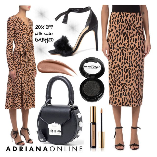"""ADRIANA ONLINE: Tailored Style"" by gaby-mil ❤ liked on Polyvore featuring Diane Von Furstenberg, SALAR, Alexandre Birman, Yves Saint Laurent and Manic Panic NYC"