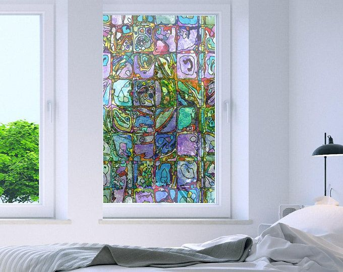 Non Adhesive Decorative Privacy Window Film Static Cling Etsy In 2020 Adhesive Window Film Window Film Stained Glass Window Film