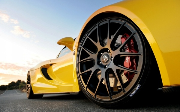 yellow cars vehicles hennessey venom gt rims sports cars tires yellow cars