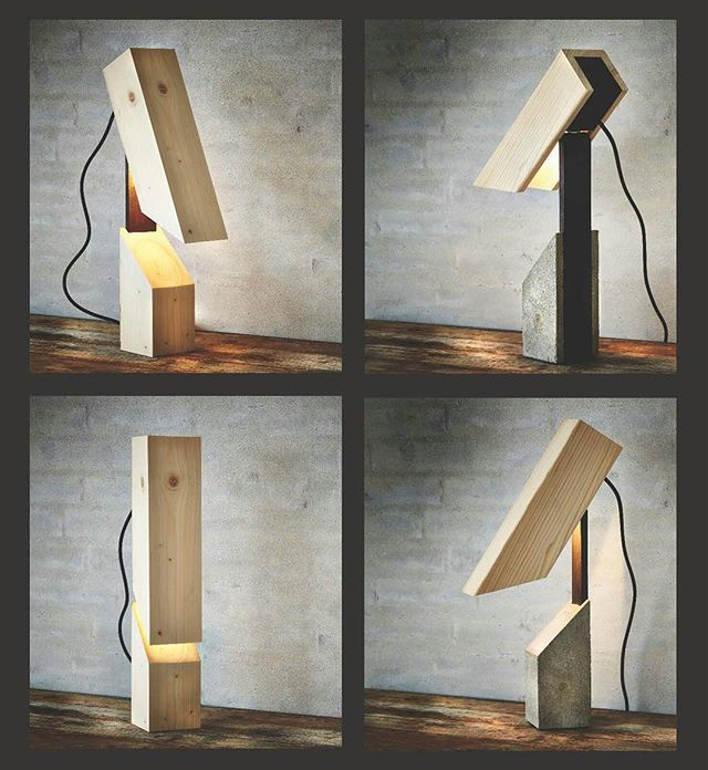 #lamps #concrete #plywood #wood #lamper #krydsfiner