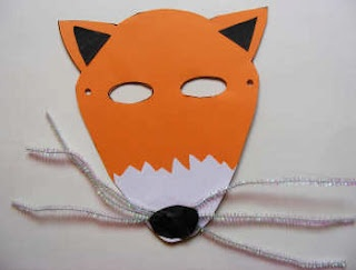 fantastic mr fox mask template - fox mask paper plate craft animals forest animals