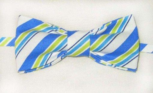 Галстук-бабочка, геометрический рисунок полоска. Заказать на http://friend-brand.ru/