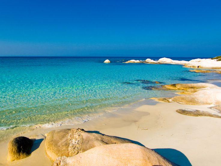 Greece Halkidiki second peninsula portokali beach. Macedonia northern Greece