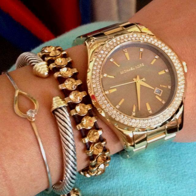 whole wrist: Arm Candy, Gold Watch, Style, Michael Kors Watch, Armcandy, Mk Watch, Arm Candies, Kors Watches, Michaelkors