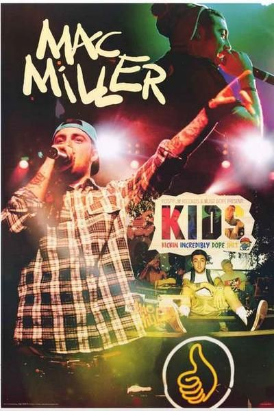 A great poster of Pittsburgh Hip Hop star Mac Miller Kickin' Incredibly Dope S***! Fully licensed - 2012. Ships fast. 24x36 inches. Need Poster Mounts..? su1170 nmr241170