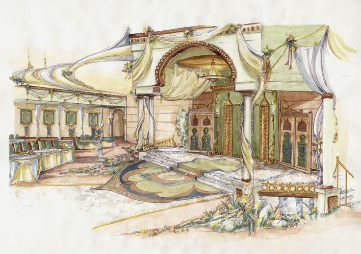 wedding interior sketch - Google Search