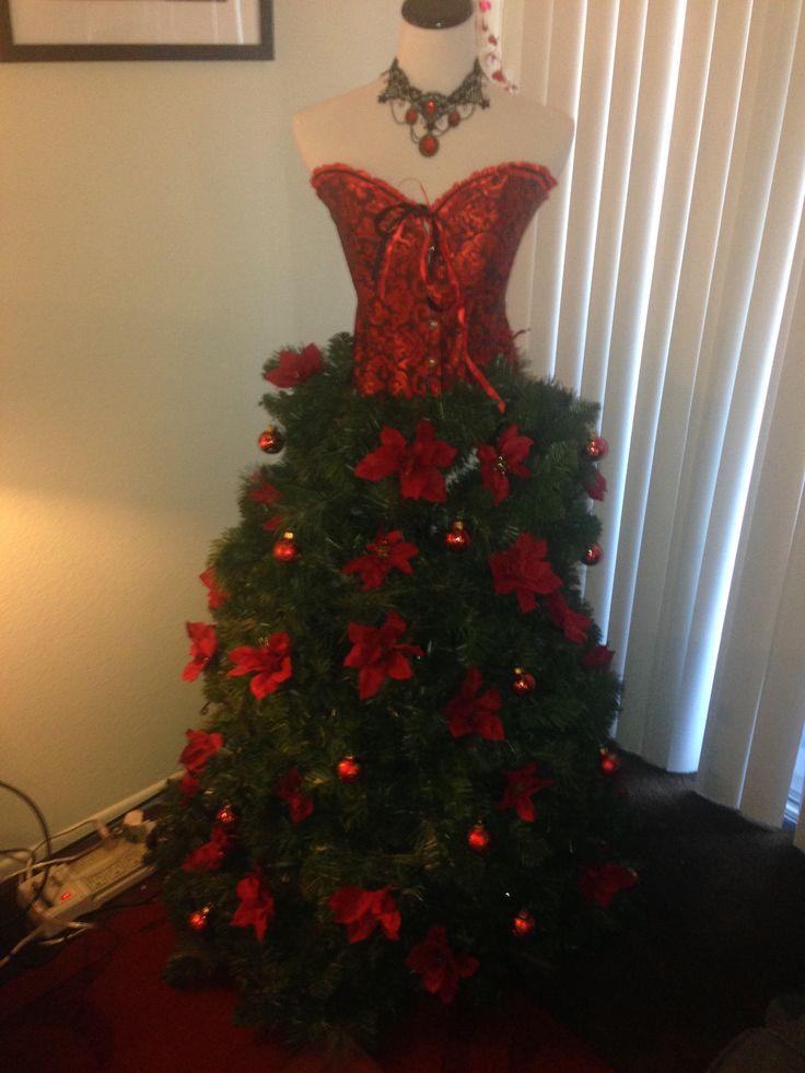 Red dress xmas knock