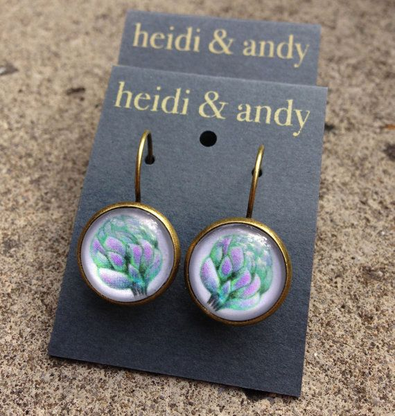 NEWHand Drawn Brass Loop EarringsFrench by HeidietAndyShop on Etsy, $18.00