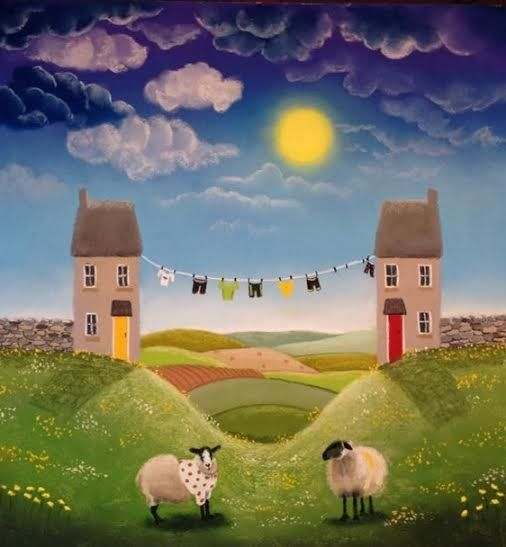 Spot The Sheep Original by Lucy Pittaway
