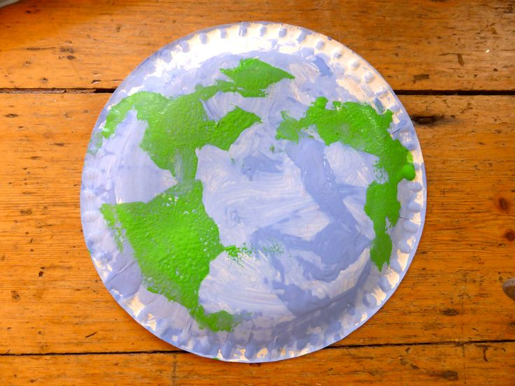World Earth Day Preschool Craft - Paper Plate globe. Instructions on The Wobbly Jelly Blog
