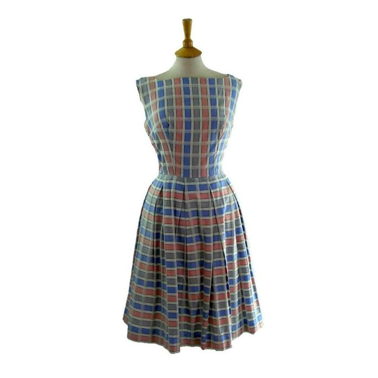 1950s Cotton Gingham dress