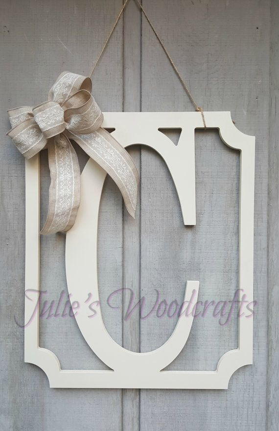 These beautiful rectangular framed initials are the perfect addition to a front porch, sunroom, front door, foyer, mantle, kitchen or bedroom!