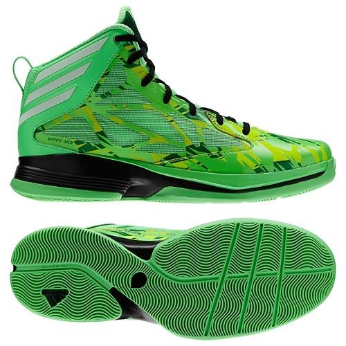 adidas green basketball shoes