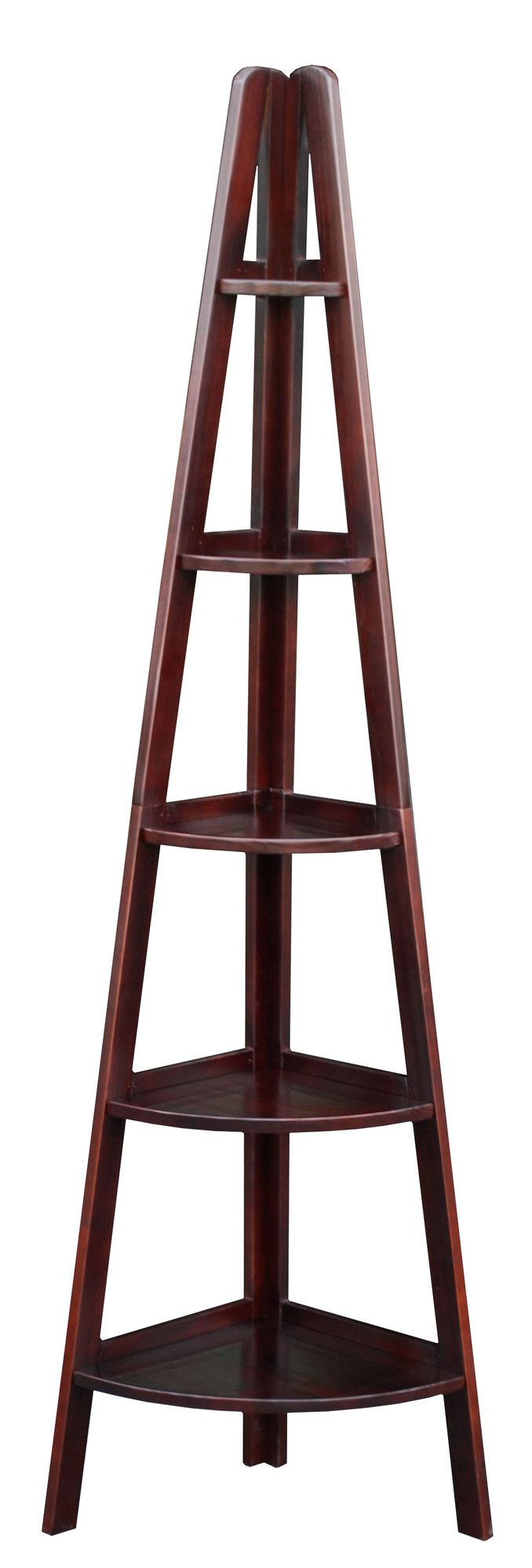 Ladder bookcase see picture - Casual Home 72 Corner Ladder Bookcase Reviews Wayfair