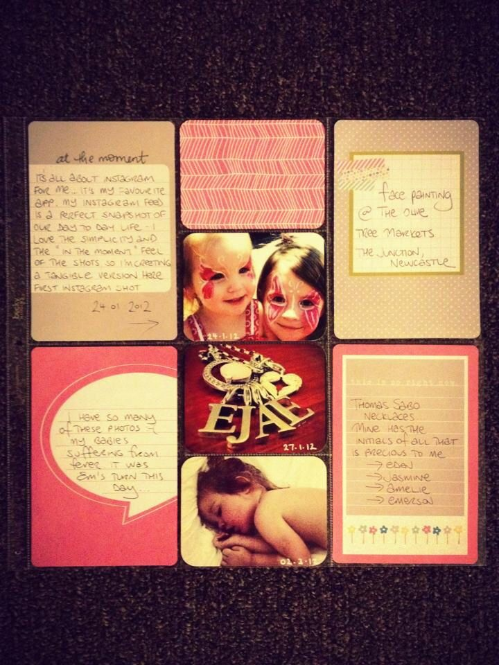 First ever layout from Meegan Smith, using the Blush core kit and photos via Instagram.