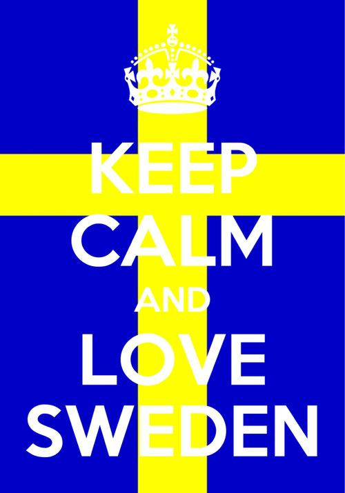 I love Swedish stuff :3 Comedians, gummy bears, foreign films... yep down to their flag. And I want to see if I can take a directed study one year in high school to learn some Swedish. :3