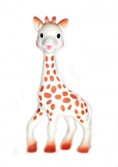 Sophie Giraffe Teether -Sophie the Giraffe was born in the French Alps in 1961. Hand-made since her inception, Vulli's Sophie the Giraffe teething toy is made from phthalate-free rubber and food-quality paints, making her the perfect baby toy for chewing, teething babies. $22