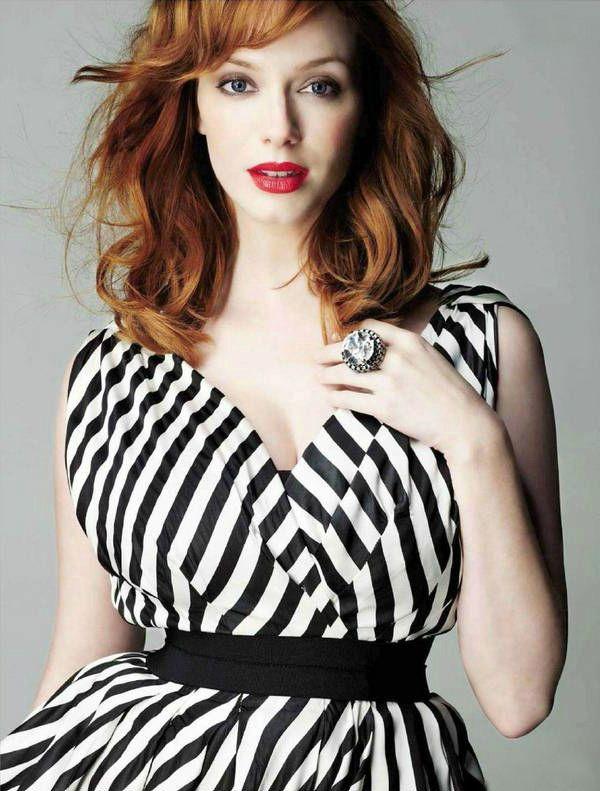 Женщина с пышным бюстом как подобрать одежду Кристина Хендрикс (Christina Hendricks), американская актриса.