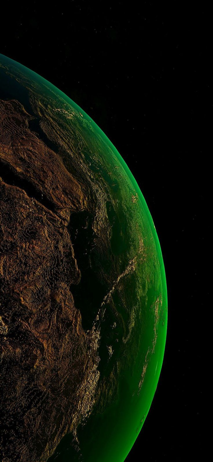When Hydrilla takes over the world. Wallpaper earth