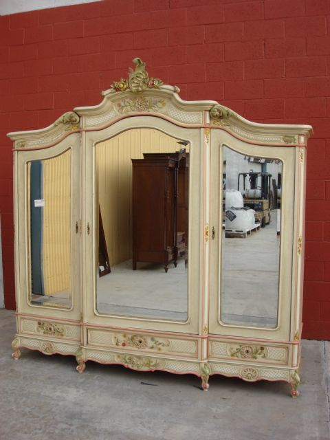 french antique armoire wardrobe shabby chic louis xv. Black Bedroom Furniture Sets. Home Design Ideas