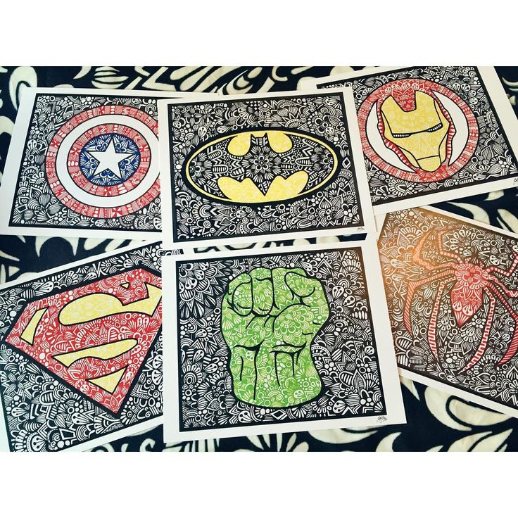due to popular request, I finally have separate prints of the superheroes on my…
