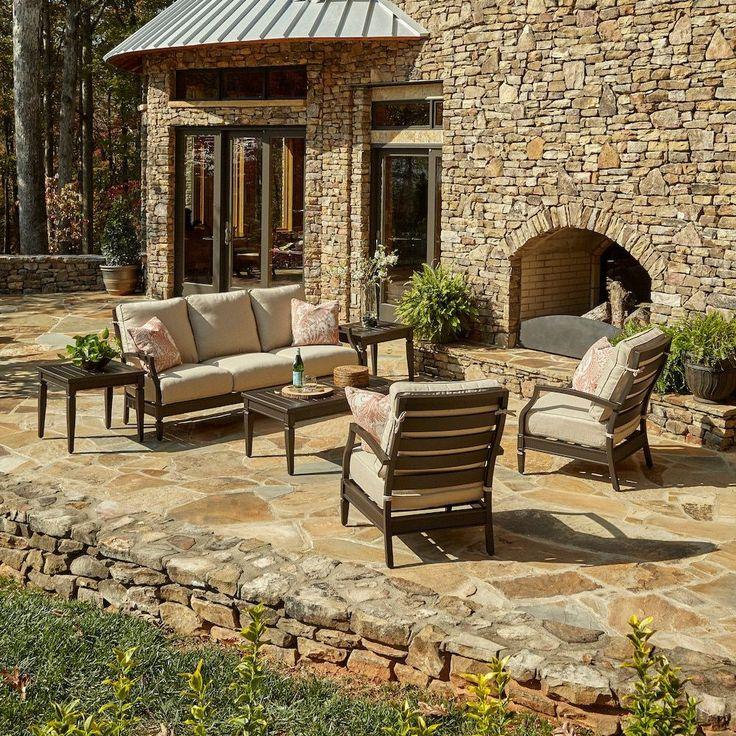beige furniture. outdoor cerissa brown aluminum set with climaplush cushions in demo wren and jul cajun beige size sets patio furniture polyester e