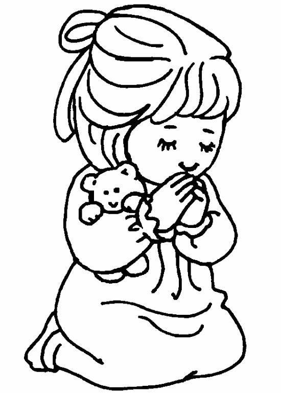 coloriage enfant en prire