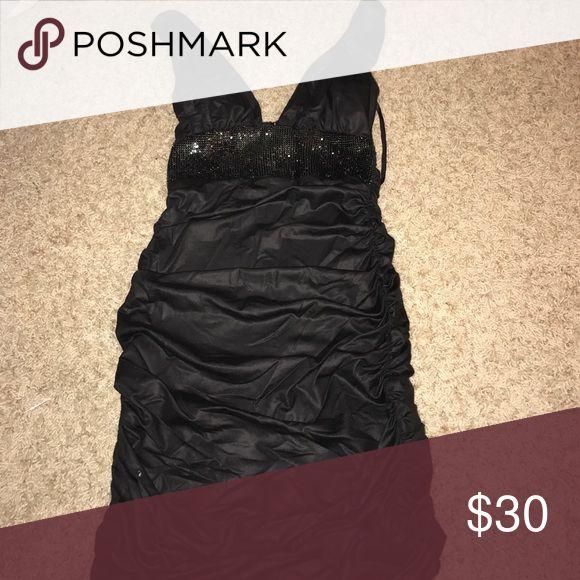 Black bebe dress Fits right and shows off curves, mini dress very cute bebe Dresses Mini