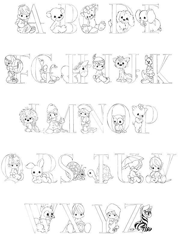 Full Alphabet Precious Moments Coloring Pages Alphabet Coloring Pages Fnaf Coloring Pages