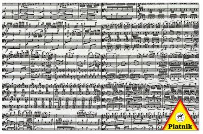 Notas musicales. Puzzle de 1000 piezas de Piatnik.
