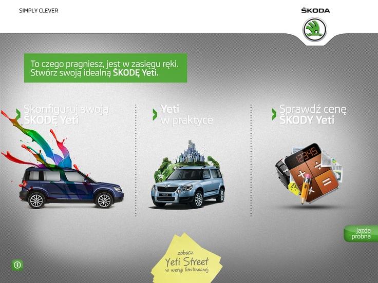 "The ""ŠKODA Yeti App"". Awards: mFWA, nominated in two categories in the MIXX Awards 2012.   http://itunes.apple.com/app/skoda-yeti-app/id508849269"