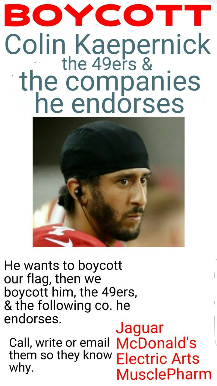 Should boycott every 49ers game, and the companies he endorses, and let them know why, the team and the business' start to loose a $ you'll see how fast his the NFL will address this issue, they can't force him to respect our flag and national anthem but they can make him sit inside until the anthem  is done and refuse him the audience