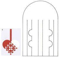 Woven Heart ornament pattern - Flettehjerter - Sådan fletter du julehjerter. Masser af skabeloner
