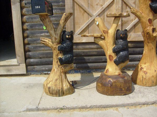 chainsaw carvings 2 ft black bear.   please click on bear picture  WOW free shipping.
