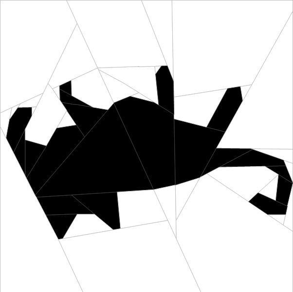 "Silhouette Cat #7 10""(26 cm) Paper Pieced patterns quiltartdesigns.blogspot.com"