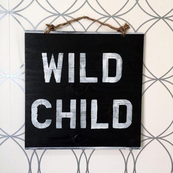 Wildes Kind Zeichen / Böhmisches Decor / Hippie von HollyWoodTwine
