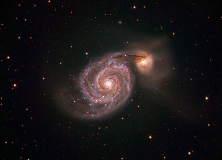 The Whirlpool Galaxy (M51) [OC][3254x2493] http://ift.tt/2FahXIN