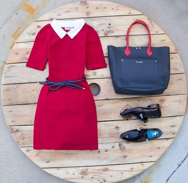 ¿Has visto nuestros vestidos para mujer? Bolso chic + mocasines = Monday Look! | El Ganso Mujer Online Store
